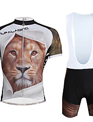 ILPALADINO Cycling Jersey with Bib Shorts Men's Unisex Short Sleeves Bike Clothing Suits Quick Dry Ultraviolet Resistant Breathable