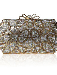 L.west Women Elegant High-grade Diamond Bow Evening Bag