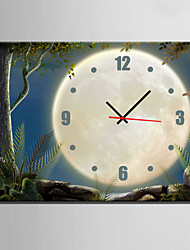 E-HOME® Scenery Under The Moon Clock in Canvas 1pcs