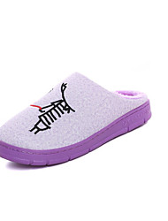 Unisex Slippers & Flip-Flops Winter Slippers Customized Materials Casual Flat Heel Others Blue / Pink / Purple /