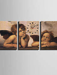 E-HOME® Little Angel Clock in Canvas 3pcs