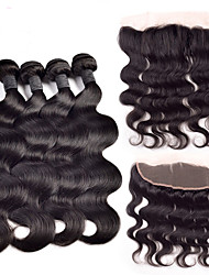 Brazilian Human Hair With Lace Frontal Body Wave Ear To Ear 13X4 Lace Frontal With Bundles Lace Frontal