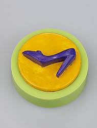Small round shape high heel shoes mark silicone rubber cake mould