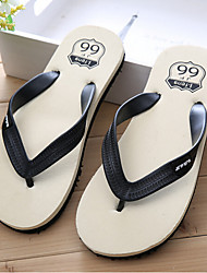 Men's Slippers & Flip-Flops Summer Customized Materials Outdoor Flat Heel Others Black Green Red Other