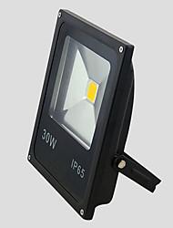 30w теплый / холодный белый цвет ip65 открытый светодиодный прожектор черный ультратонкий шарик водить (AC85-265V)