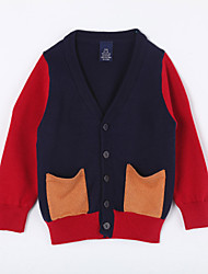 Boy's Casual/Daily Color Block Sweater & CardiganCotton Blue