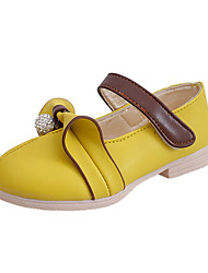 Girl's Loafers & Slip-Ons Spring / Fall Sandals PU Casual Flat Heel Magic Tape Yellow / Pink / White Others