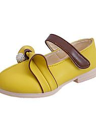 Para Niña-Tacón Plano-Sandalias-Zapatos de taco bajo y Slip-Ons-Casual-PU-Amarillo / Rosa / Blanco