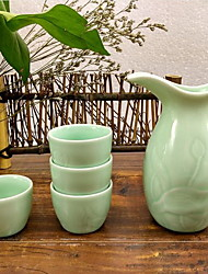Jingdezhen Ceramic Wine Vessel Crafts Set A Flagon Four Cups