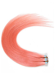 Best Selling 100% Remy Human Hair Glue Skin Weft #Pink Tape In Human Hair Extensions Brazilian Straight Hair