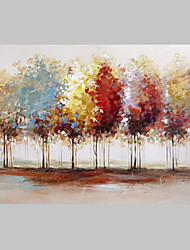 Free Shiping Abstract Colorful Trees on Canvas