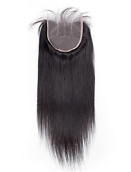 Bolin Hot Sell Natural Color Medium Brown Swiss Lace 4x4 Straight Human Hair Closure In Stock