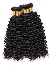 Top Grade 400g/Lot 8-28 Peruvian Virgin Hair Natural Black Deep Curly Raw Human Hair Weaves Hot Sale