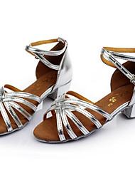 talons printemps / automne en cuir à bout ouvert en plein air stiletto / casual talon lacets argent / autres d'or des femmes