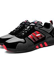 scarpe da ginnastica unisex primavera / cadere il comfort tallone piano casuale pu blu / verde / rosso / bianco sneaker