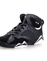 Men's Athletic Shoes Spring / Fall Comfort Fabric Casual Flat Heel Black / Purple / White Sneaker