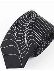 Men Vintage / Work / Casual Neck TieSilk GeometricBlack All Seasons