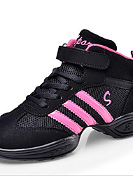 Girl's Sneakers Spring / Fall Closed Toe Tulle Outdoor / Casual Flat Heel Lace-up Black / White Sneaker