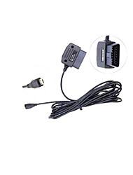 Auto mit Strom versorgten USB 16pin Ladeleitung 16 Stift OBD Mini-USB-4 Meter Dollar-Linie