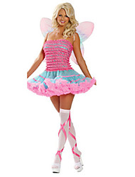Costumes Movie & TV Theme Costumes Halloween / Oktoberfest Pink Patchwork Terylene Dress / More Accessories