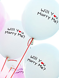 2pcs Will You Merry Me Balloons DIY Wedding Propose Decoration Essentials by Beter Gifts