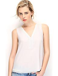 NAKED ZEBRA Women's V Neck Sleeveless Vest & Waistcoat Black / White / Green / Fuchsia-AT2955