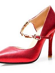 Damen-High Heels-Hochzeit Büro Party & Festivität Kleid Lässig-Kunststoff Lackleder Kunstleder-Stöckelabsatz-Komfort Neuheit Pumps-Rot
