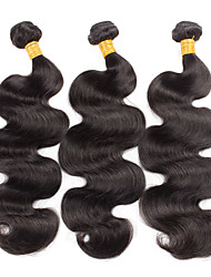 3 Pieces Body Wave Brazilian Human Hair Weaves 100 grams 8inch to 30inch Human Hair Extensions