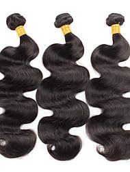 Menschenhaar spinnt Brasilianisches Haar Wellen 18 Monate 3 Stück Haar webt