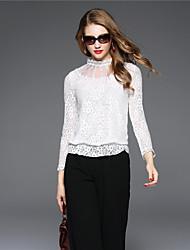 BOMOVO® Femme Mao Manche Longues T-shirt Blanc-B16QAQ2