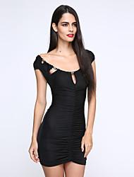 Damen Kleid Sexy Mini Baumwolle
