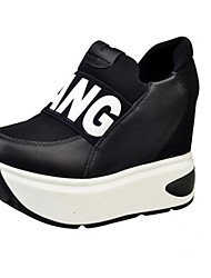 Women's Sneakers Spring / Fall / Winter Comfort Leather / Cotton Outdoor / Casual Wedge Heel Slip-on