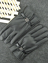 Leather Gloves Men'S Winter Thermal Insulation Thicker Add Plush Riding Motorcycle Touch Screen Gloves Thin Section