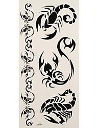 1 Tatuagem Adesiva Séries Animal / Séries Totem scorpions totem Flash do tatuagem Tatuagens temporárias