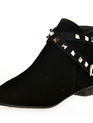 Women's Boots Fall / Winter Fashion Boots / Combat Boots PU / Fleece Office & Career / Casual Low Heel / Others Black