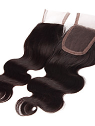 18Inch Handtied Body Wave Lace Closure Unprocessed Hair Remy Human Hair 4*4Swiss Lace