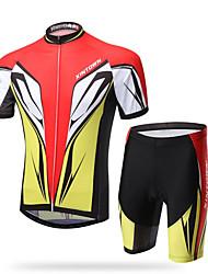 XINTOWN® Fahrradtriktot mit Fahrradhosen Herrn Kurze Ärmel FahhradAtmungsaktiv / Rasche Trocknung / UV-resistant / 3D Pad /