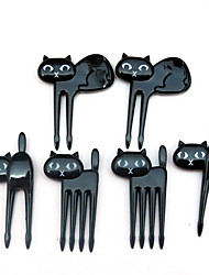 6Pcs Food Picks Snack Party Forks Animal Shaped Children Fruit Fork Kitchen Cutlery Birthday Party Supplies