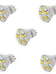 5pcs 7W MR11 15XSMD5730 Light Spotlight Bulbs (AC 12V)