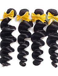 Indian Virgin Hair Loose 3 Bundles 7A Human Hair Extensions Indian Loose Wave Virgin Hair Bundles Weaves