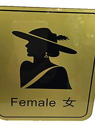 WC cartão de alerta. sinalização em locais públicos. WC sinais sinais de higiene sinalização