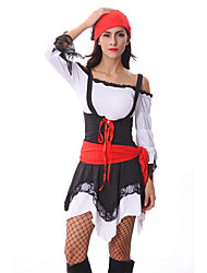 Costumes Movie & TV Theme Costumes Halloween White / Black Patchwork Terylene Dress / More Accessories
