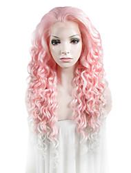 Peruca com Renda Perucas para mulheres Rosa Costume Wigs Perucas Cosplay