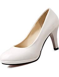Красный / Белый / Бежевый-Женский-На каждый день-Полиуретан-На толстом каблуке-На каблуках-Обувь на каблуках