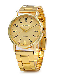 Unisex Fashion Watch Quartz / Stainless Steel Band Vintage Casual Gold