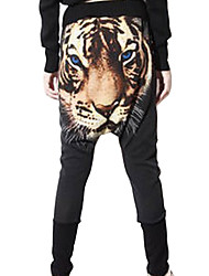 Harajuku Harem Pants  Personality Dance Pants Punk Drop Crotch Pants Tiger Hip Hop Trousers in One Size
