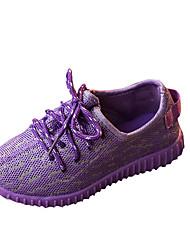 Розовый Фиолетовый Серый-Унисекс-Повседневный-Полиуретан-На плоской подошве-Удобная обувь-Кеды