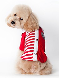 Katzen / Hunde Kostüme / T-shirt Rot / Blau Hundekleidung Sommer / Frühling/Herbsteinfarbig / Polizei / Militär / Amerikaner / USA /