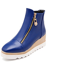 Women's Boots Fall Flats Leatherette Casual Flat Heel Others Black / Blue / Yellow / White Walking