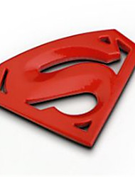 Automobile Personality Decorative Plaster  Superman Stickers 3D Metal Auto Logos